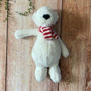 Jellycat Polar Bear with Striped Scarf